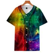 629fcb0d Starry sky Suicide Squad Baseball T-shirt Men 2018 Fashion Autumn Baseball  Jersey Short Tshirt Clothes 4XL