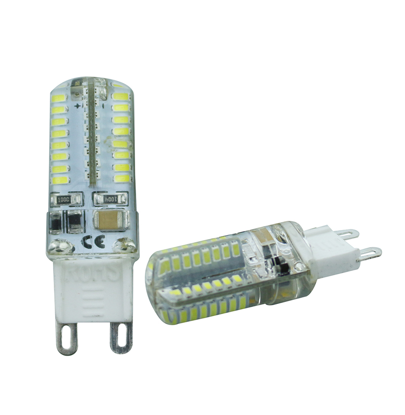 LEEDSUN <font><b>G9</b></font> Corn Bulb 3014 SMD Lamp <font><b>LED</b></font> Light 220V 6W 64LEDs Best quality Silicone Crystal Chandelier <font><b>COB</b></font> Lighting