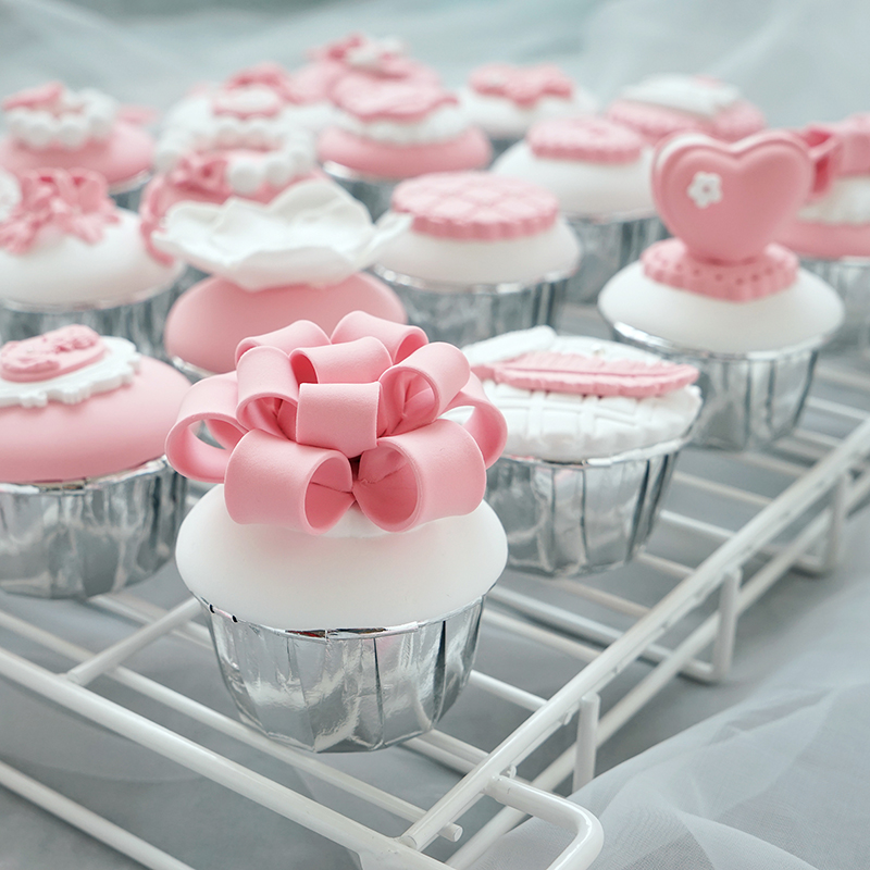 Simulation Fondant Cup Cake Pink Cute Little Cake Pink Control Cute Snack Photography Props