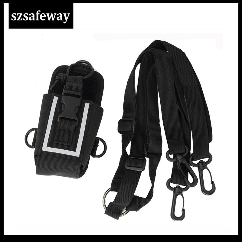 MSC-20M Nylon Two Way Radio Leather Carry Case Bag For Motorola GP328 For Hytera PD780/680 GP328 UV-82 Baofeng UV-5R