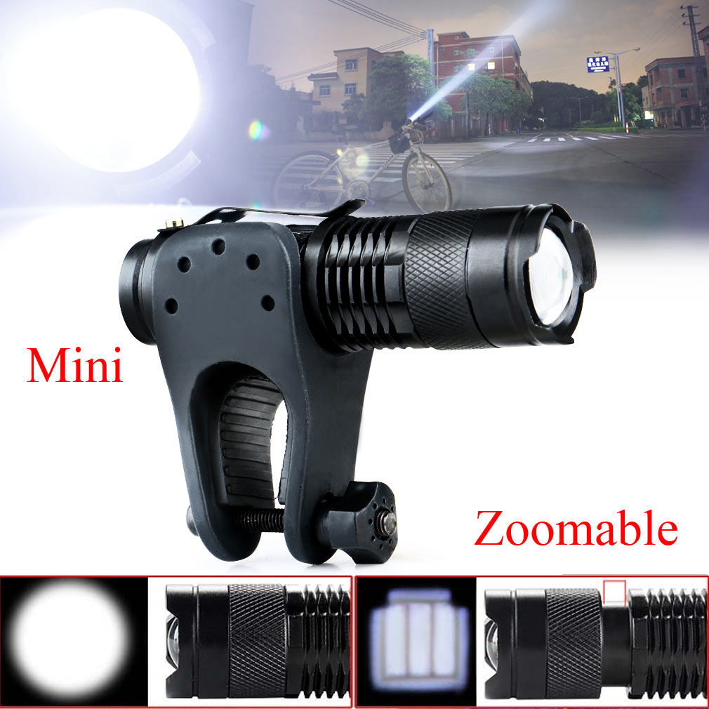 1200Lm Cree Q5 LED Front Bicycle Light Bike Lamp Zoomable Flashlight Torch+Mount