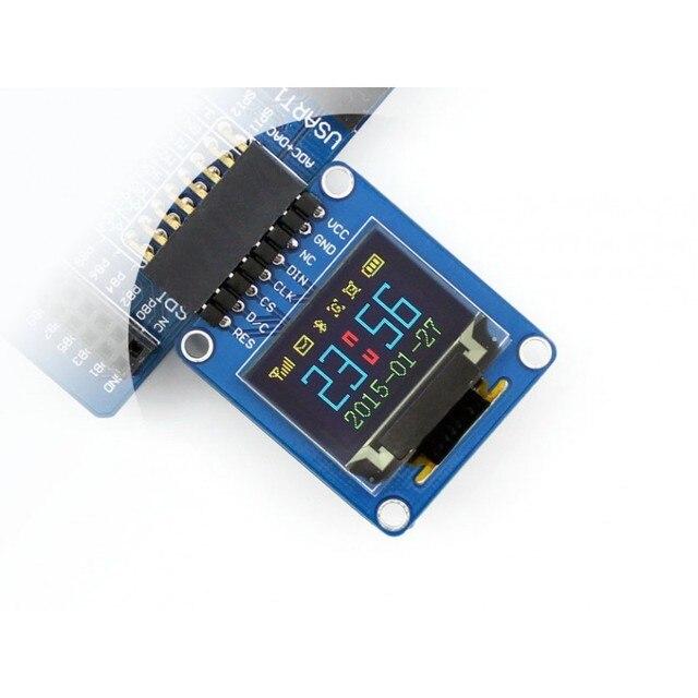 Waveshare 10 шт/много 0.95 дюймов RGB OLED () 96x64 СВЕТОДИОДНЫЙ Дисплей ЖК-Модуль SPI интерфейс Изогнутые/Горизонтальный Разъем