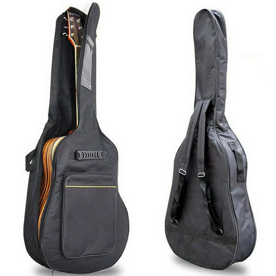 Music-S  New Arrival 41 Acoustic Guitar Double Straps Padded Guitar Soft Case Gig Bag Backpack free shipping