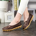 2016  Spring Fashion PU Leather Woman Flats Moccasins Comfortable Woman Shoes Woman Casual Shoes Cut-outs Leisure Flat