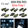 16pc X Canbus Error Free LED Interior Dome Map Reading Light Lamp Kit Package For MINI