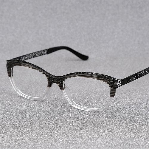 Alta qualidade óculos mulheres miopia óculos de armação de óculos da moda olho de gato óculos vintage frame óculos limpar RB29650