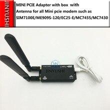 Тестовый комплект с коробкой/корпусом, модулем LTE + антенной + USB + мини адаптером PCIE для всех мини Модемов pcie, как и в случае с модемом, входящим в комплект, входящим в комплект с разъемами для EC25 E/1/1/2/2/1/2/2/2/1/2/1/2/2/2/1/2/2/1/2/2