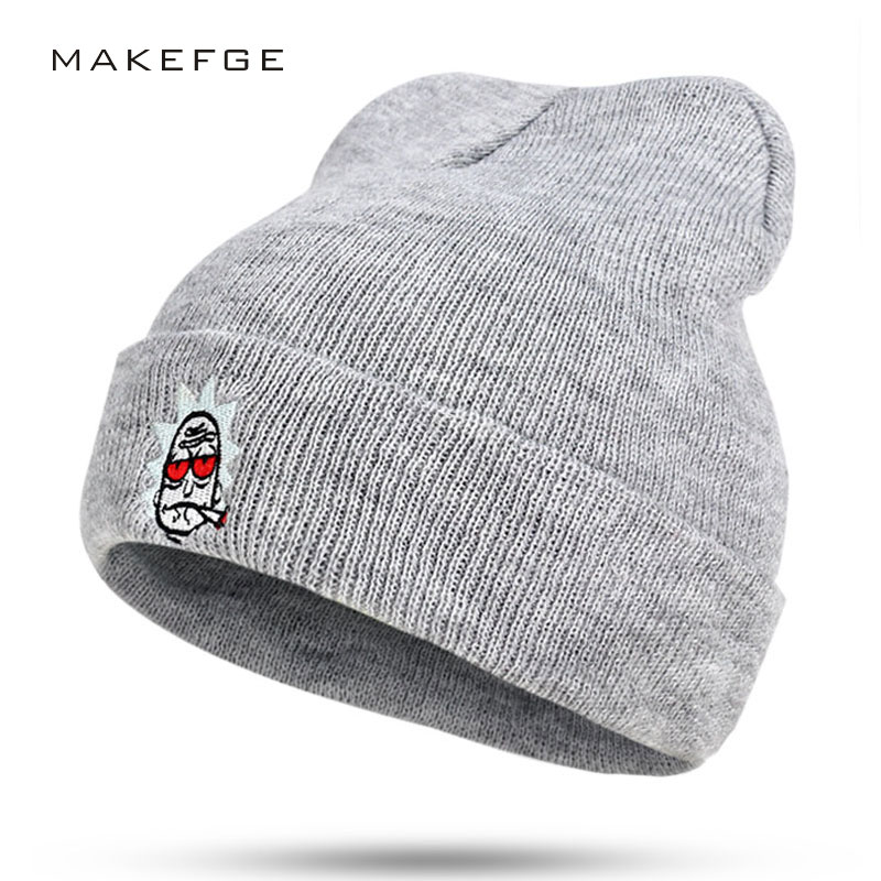2813b33d Hot Sales!Unisex Brand Winter Hat For Men Skullies Beanies Women Men Cap  Fashion Warm Knit Beanies Hat Elasticity Free Shipping