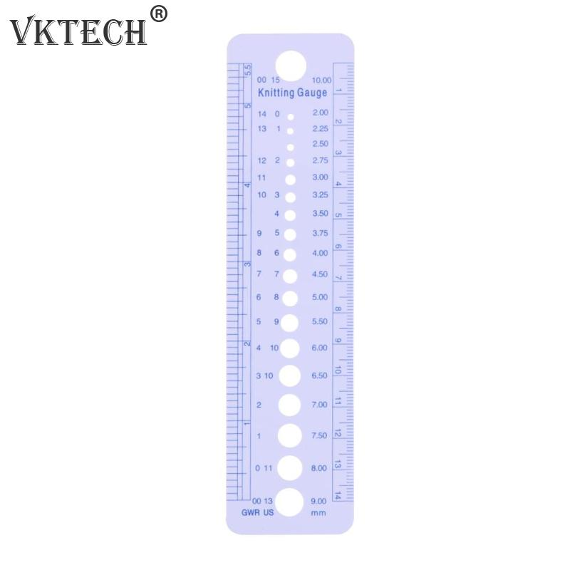 1pc Profession Knitting Needle Gauge Plastic inch cm Measuring Tape Ruler Home Sewing Tool Accessores