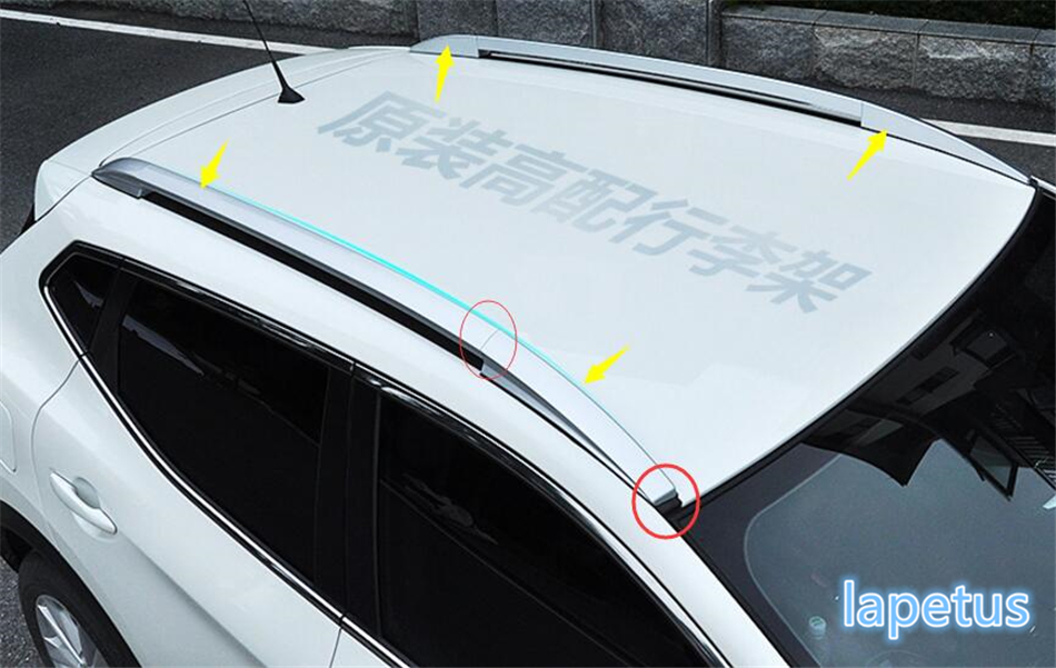 Lapetus Silver Roof Rack Side Rails Bars Luggage Carrier Multifunction Cover Trim For Nissan Qashqai J11