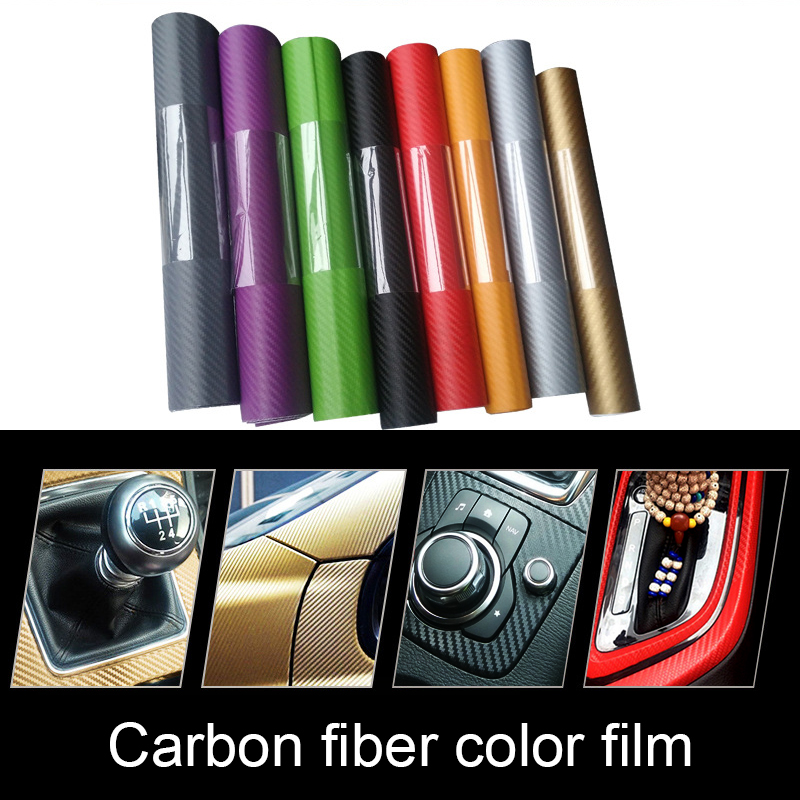 Car Stickers 3D Carbon Fiber Vinyl Film High Glossy for Volkswagen Vw Golf 4 <font><b>5</b></font> 6 7 Tiguan Polo Passat B5 Car Styling Accessories image
