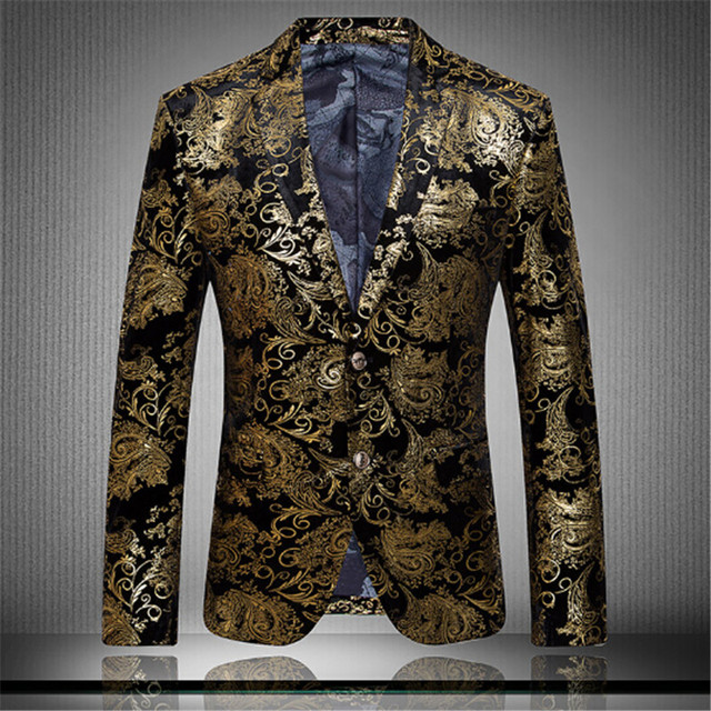 2017 hombres de negocios traje de moda slim fit tiranos locales oro de Los  Hombres 953aed99c4f