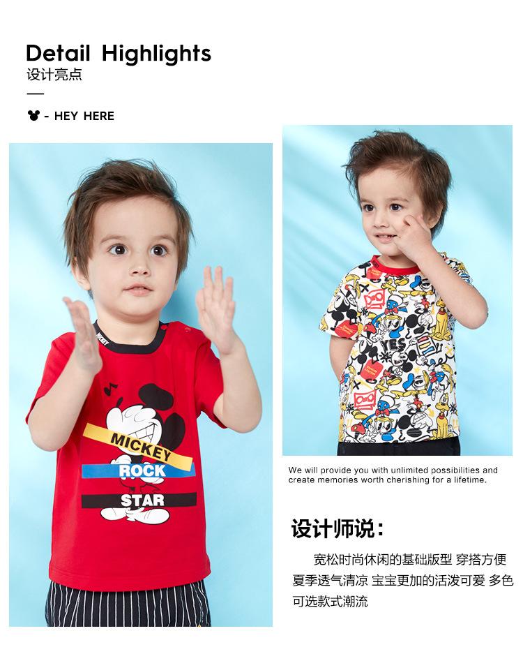 HTB15r20KNTpK1RjSZFKq6y2wXXaD - Disney children's clothes boys T-shIrt dress knitted Short-sleeve tshirt 2019 Summer Mickey fashion pure cotton camiseta t shirt