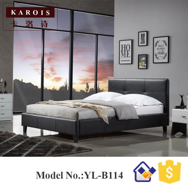 lastest diseo moderno cama de cuero muebles de dormitorio camas b
