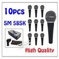 10 шт. оптовая продажа высокое качество SM 58SK бесплатная доставка вокальной караоке микрофон динамический проводной ручной микрофон см 58