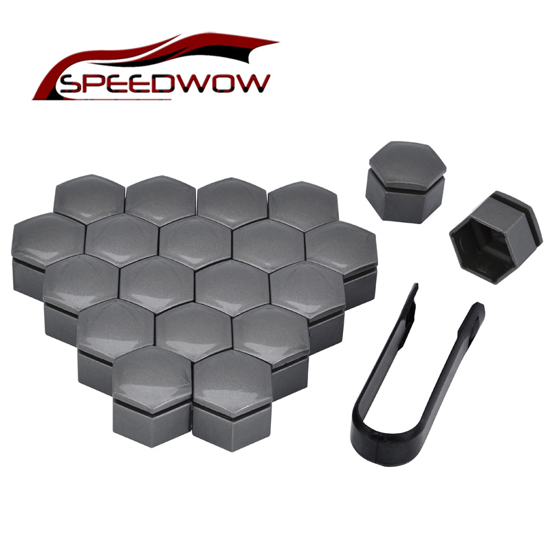 SPEEDWOW 20pcs 22mm Tyre Wheel Hub Covers Protector Tire Wheel Screw Bolts Nuts Covers Protection Caps For Buick Regal