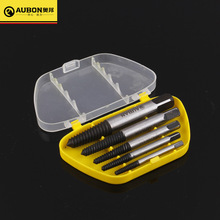 AUBON 5Pcs Carpentry Screw Extractor Drill Bits Easy Out Guide Set Screw Remove Broken Bolt Set Hand Tool 1# 2# 3# 4# 5#