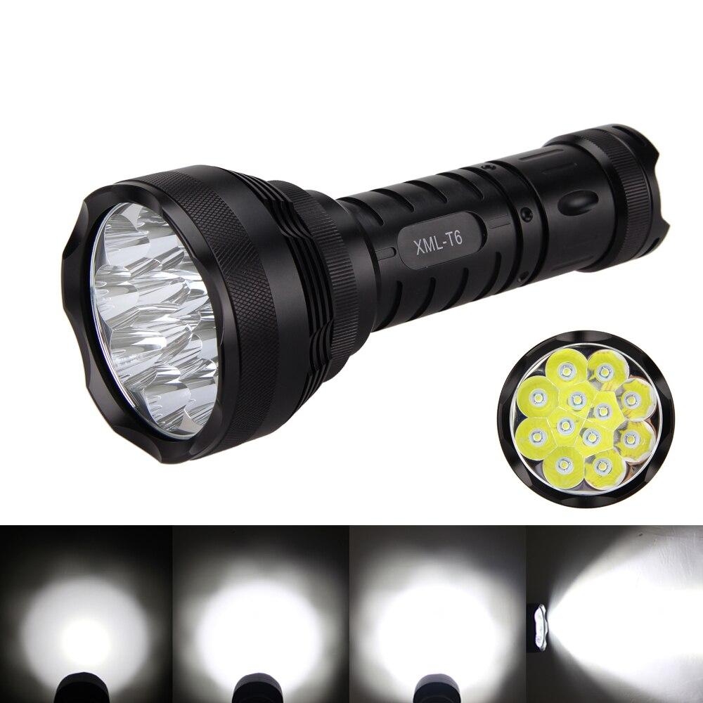 5 Mode énergie Puissante 6000 Lm 12 LED lampe perles T6 LED Lampe De Poche Lampe torche pour 6x18650