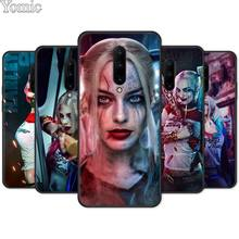 Silicone Phone Case for Oneplus 7 7 Pro 6 6T 5T Soft Cover Shell for Oneplus 7 7Pro Suicide Squad Harley Quinn Joker Black Case