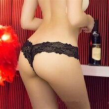 IXueJie S-XL Women G String Sexy Underwear Lace Briefs Panties Transparent Super Thin