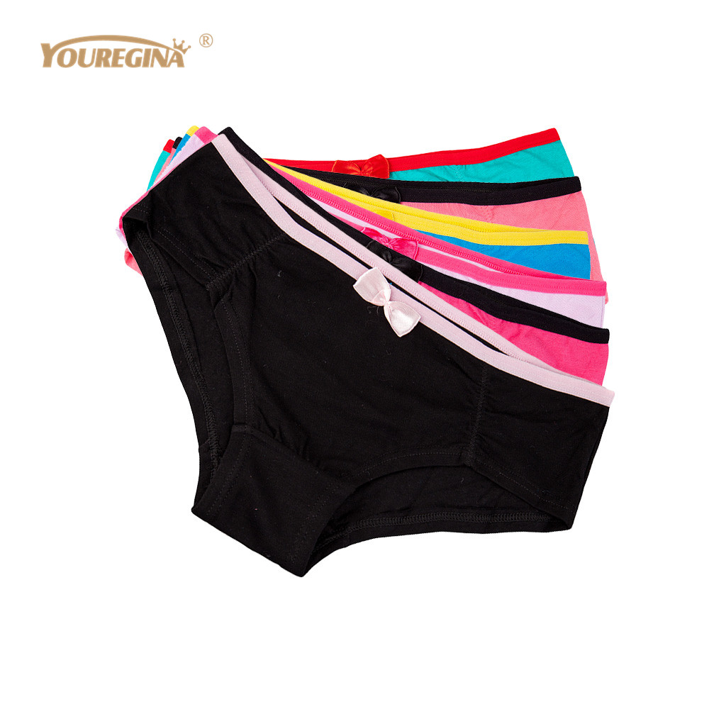 YOUREGINA Underwear Boxer Women Boyshorts Women Cotton   Panties   Underpants Boxer Short Female Knickers Sexy Briefs 6pcs/lot