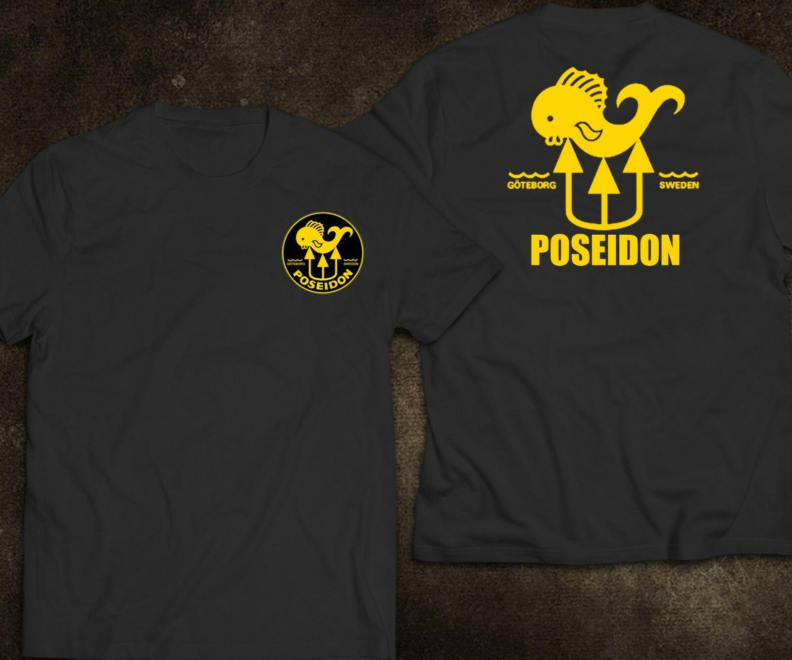 2019 Funny New Scuba Diving Poseidon Men'S Black White Navy T-Shirt Double Side Unisex Tee