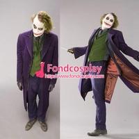 Batman Clown Beyond Return Of The Joker Heath Ledger Suit Outfit Movie Cosplay Costume Custom made[G943]