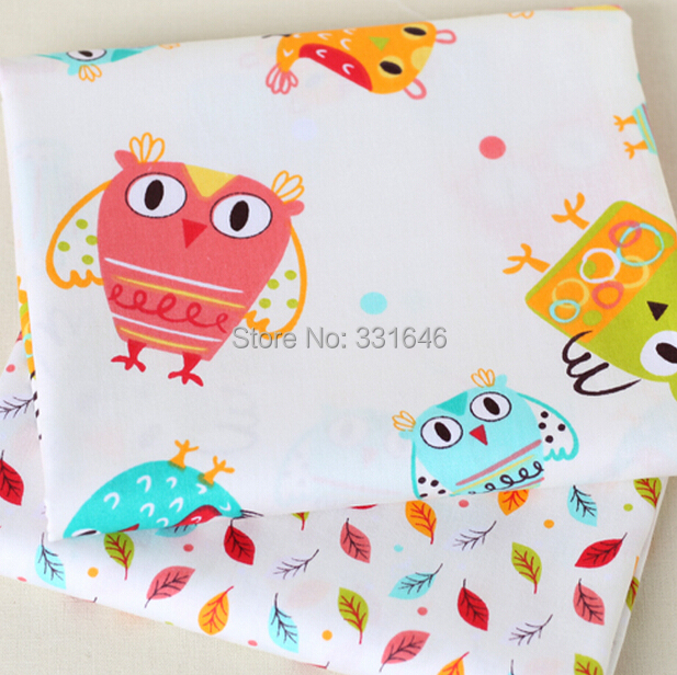 160*50cm Owl Leaf Series Cotton Fabric Telas Patchwork Diy Quilting Baby Toy Tissu Tilda Sewing Bedding Textil Tecido - Amy Handmade Store store
