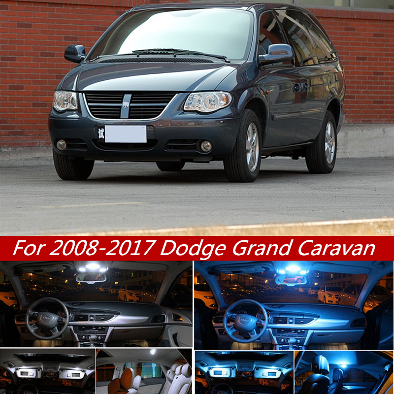 14pcs White Canbus Led Lamp Car Bulb Interior Package Kit For 2008 2017 Dodge Grand Caravan Map Dome Trunk Plate Light 12v Signal Lamp Aliexpress