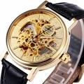 WINNER Unisex Women Gorgeous Business Mechanical Wrist Watch Leather Strap Skeleton Movement Automatic-self-wind