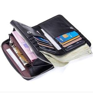 Image 4 - 2020 novo feminino curto zíper bolsas de pele de carneiro carteira titular do cartão com bolsos de moeda