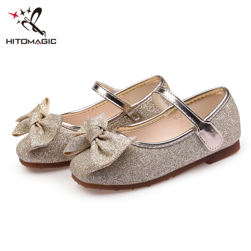 fb10df92a728 HITOMAGIC Girls Princess Shoes 2018 Leather Shoes Summer For Party Wedding  Kids Shoes For Girl Baby Toddler Gold With Bow Size 3 - aliexpress.com -  imall. ...