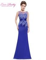 Sapphire Blue Paret Evening Dresses Ever Pretty HE08757 Long Sleeveless Evening Dress Mermaid Lace Evening Dress