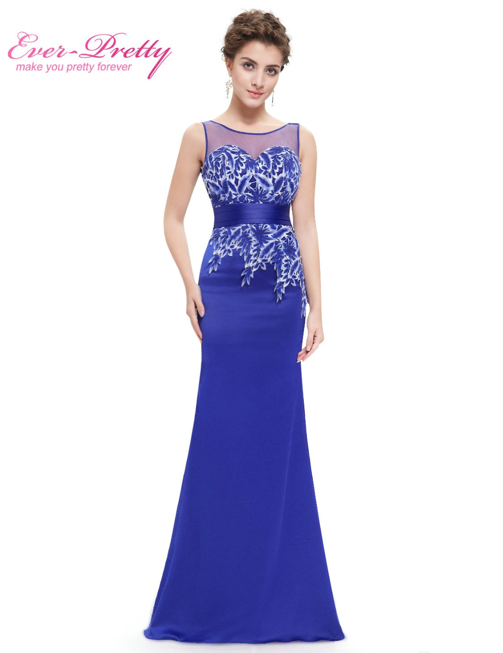 Compare prices on for ever yours online shoppingbuy low price sapphire blue paret evening dresses ever pretty he08757 long sleeveless evening dress mermaid lace evening dress ombrellifo Image collections