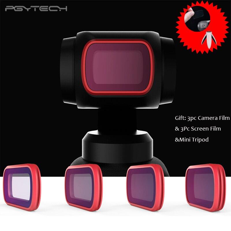 PGYTECH OSMO filtre à poche UV CPL ND/ND-PL Ensemble Caméra filtre pour objectif Kit pour DJI OSMO caméra de poche Lentille accessoires filtre