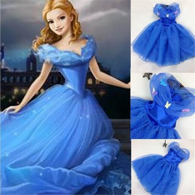 2017 New Sandy Princess Cinderella Girls Dress Cosplay Costume Fancy