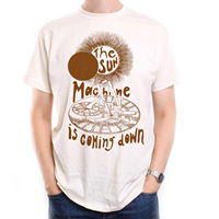 Inspired by Bowie T Shirt The Sun Machine Is Coming Down Cheap wholesale tees Casual Short Sleeve TEE mens tee shirts