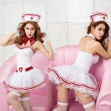 Neue Porno Frauen Weiß Strap Dessous Sexy Hot Erotische Krankenschwester Kostüm Cosplay Tenue Sexy Unterwäsche Sexy Halloween Kostüm für Frauen