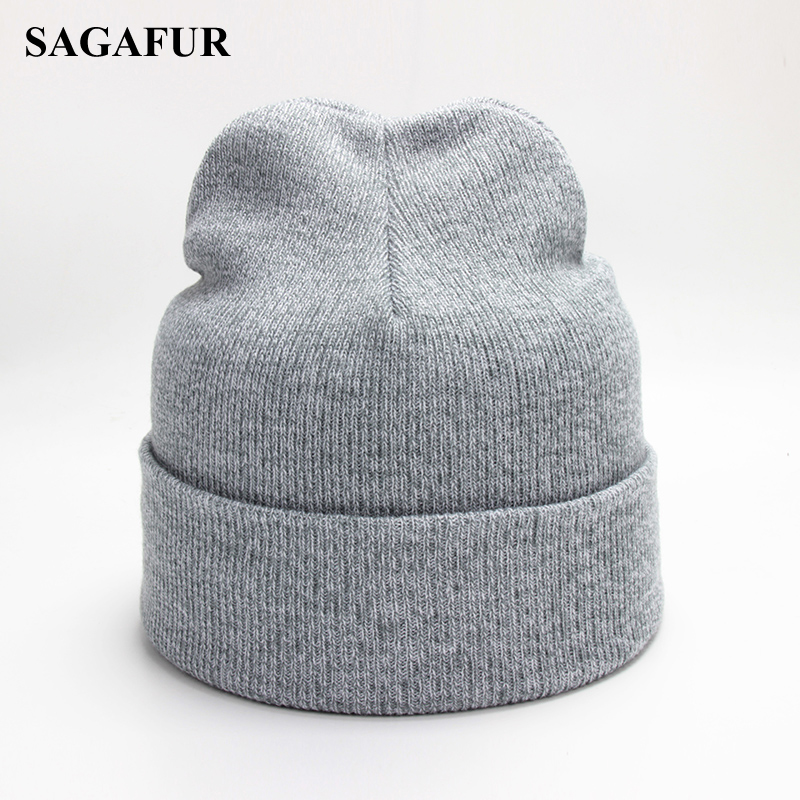 Polyester Baggy Beanies Men Winter Knitted Hat Female Cap Autumn Outdoor Bonnet Soft Beanies Hip Hop Skullies Beanies For Girls