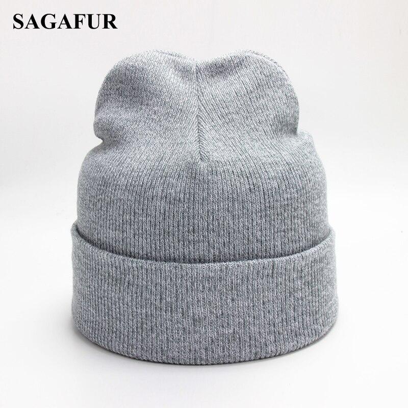 Polyester Baggy Beanies Men Winter Knitted Hat Female Cap Autumn Outdoor Bonnet Soft Beanies Hip Hop Skullies Beanies For Girls