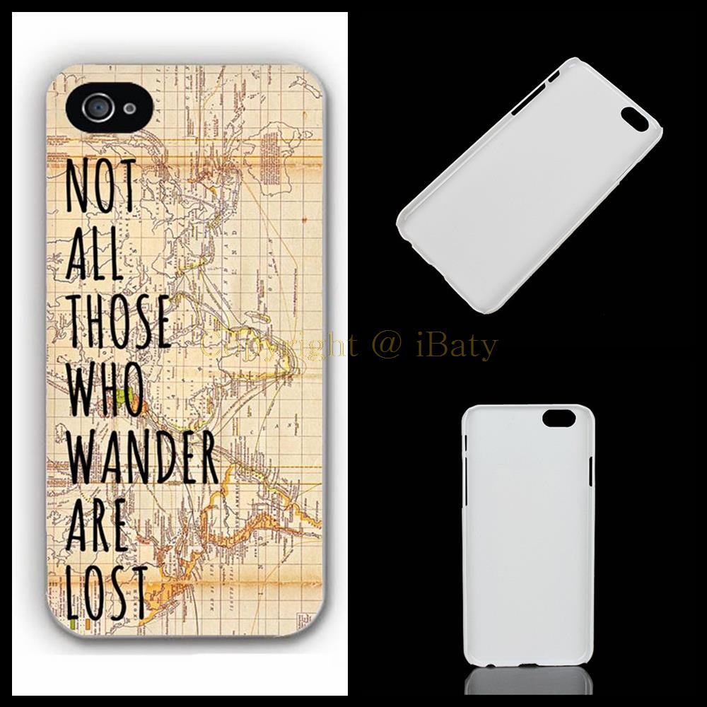 Not All Who Wander Are Lost Vintage Map Hobbit Tolkien LOTR phone case cover for Apple iPhone 4S/5S/SE/5C/6S/Plus