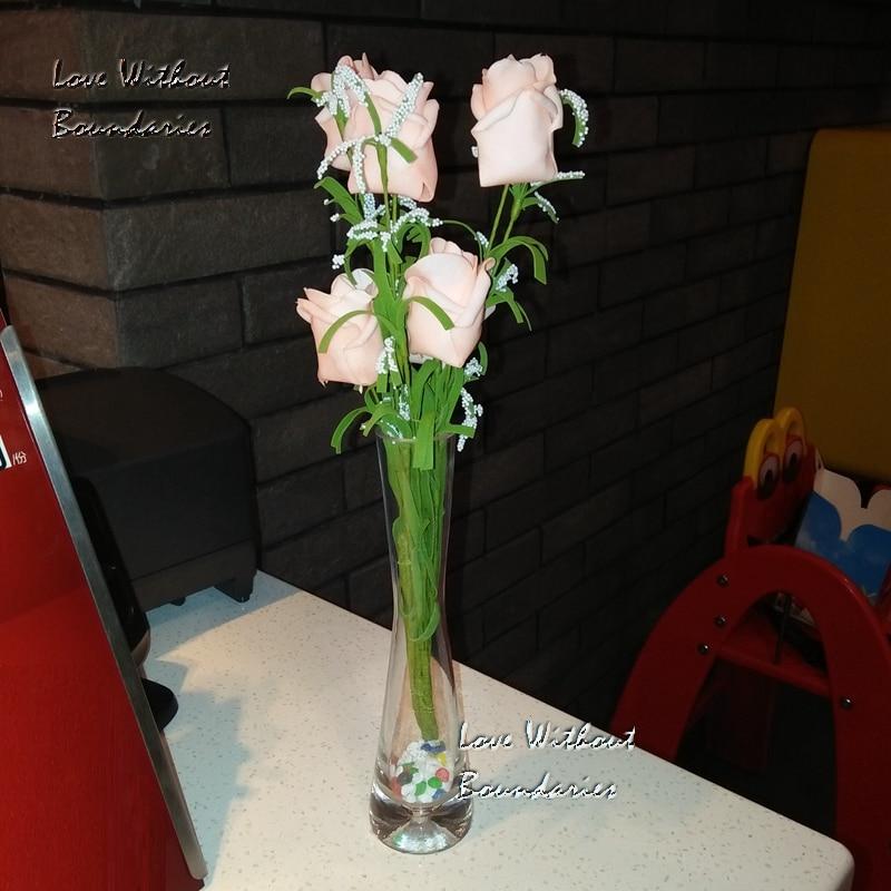 Artificiale finto seta rosa fiore edera vite ghirlanda festa di nozze - Per vacanze e feste