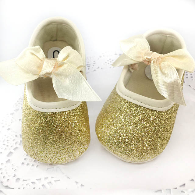 placeholder New born baby shoes First Walker Girls Toddler Cotton Sequin  with butterfly-knot Infant Soft 7d57004b79e5