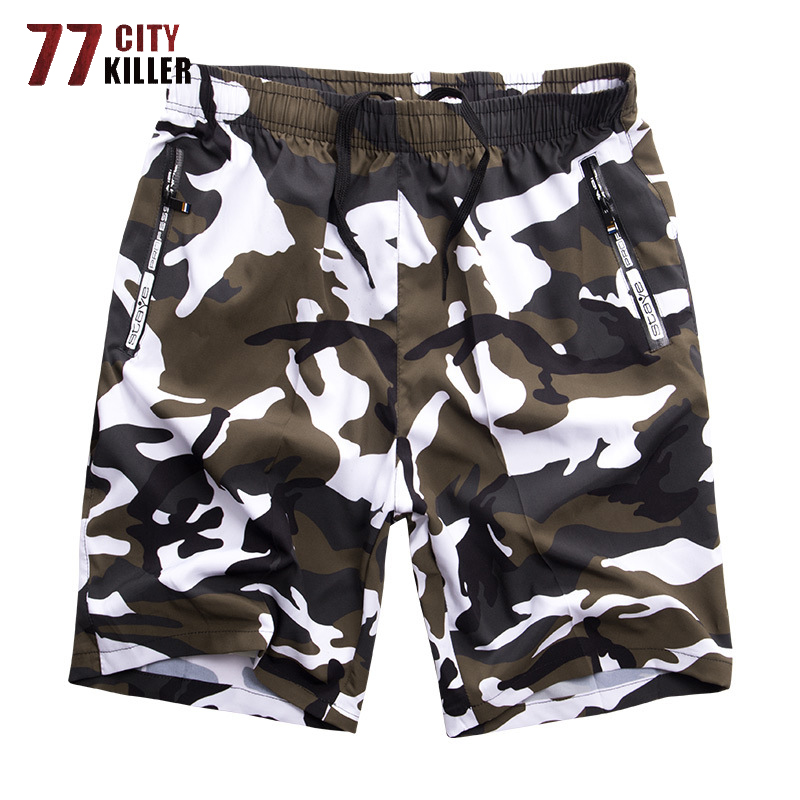 2019 New Summer Shorts Men Plus Size Camouflage Beach Shorts Male Military Quick-Drying Mens Short Pants Loose Outwear L-8XL