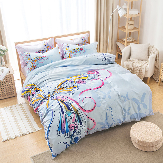 Aliexpress Com Buy Pink And Blue Girls Butterfly Bedding