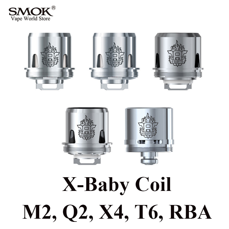 SMOK TFV8 X-BABY Bobine Cigarette Électronique 3 pcs de Q2 M2 X4 T6 ou 1 pcs RBA X BÉBÉ Core pour SMOK Majest Bâton X8 G-Priv 2 S228