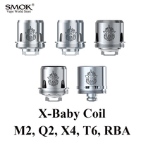 SMOK TFV8 X BABY Coil Electronic Cigarette 3pcs Of Q2 M2 X4 T6 Or 1pcs RBA