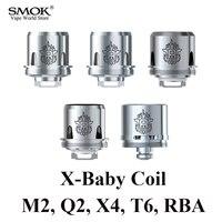 SMOK TFV8 X BABY Coil Electronic Cigarette 3pcs Of Q2 M2 X4 T6 Or 1pcs RBA