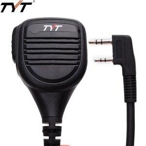Image 1 - TYT MD 380 2 פין PTT מרחוק אטים לגשם כתף רמקול מיקרופון עבור TYT MD 380 MD 390 TH UV8000D/E ווקי טוקי MD 380G רדיו חם