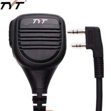 TYT MD 380 2 Pin PTT uzaktan yağmur geçirmez için omuz hoparlör mikrofon TYT MD 380 MD 390 TH UV8000D/E Walkie Talkie MD 380G amatör radyo